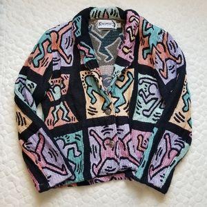90s Kokopelli native Hopi knit blazer